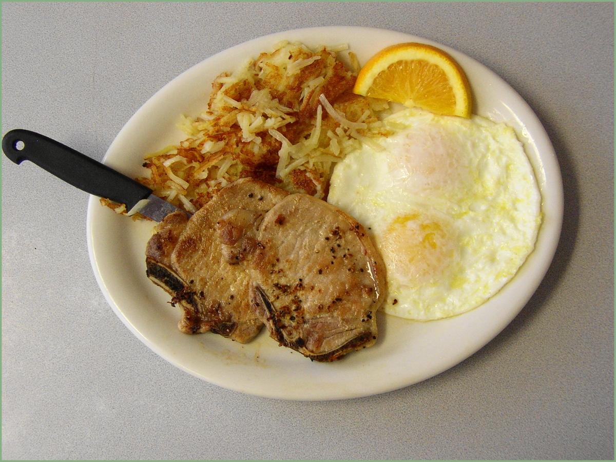 how to cook breakfast pork chops